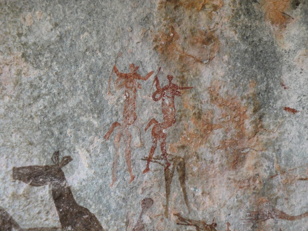 image of cave drawings as part of an article about the power of stories