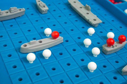 Image of Battleships game to support an article about battleships and your marketing strategy